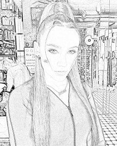 Бесплатные раскраски с певицей Миа Бойка