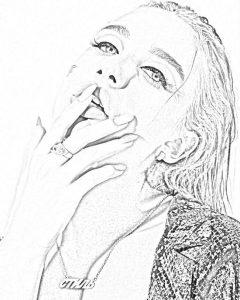 Рисунок карандашом Миа Бойка