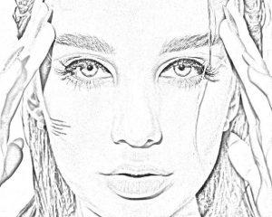 Раскраска Миа Бойка в формате А4