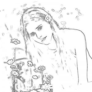 Бесплатные Раскраски с Настей Кош из Лайка