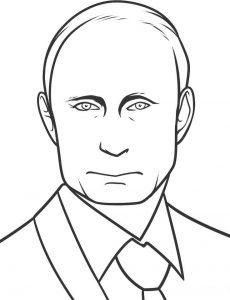 Раскраски с Путиным