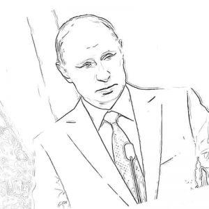 Раскраски с Путиным Владимиром Владимировичем