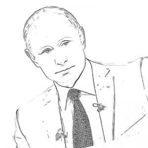 Скачать раскраску Путин В. В.