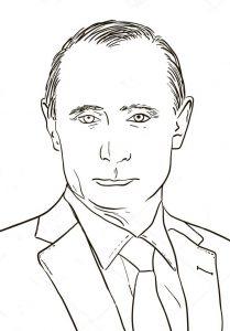 Раскраски с Путиным Владимиром распечатать