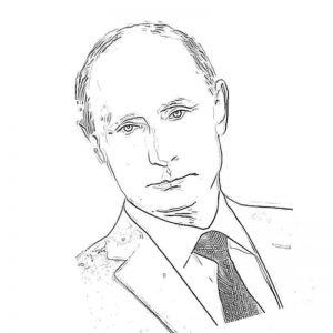 Раскраски с Путиным Владимиром распечатать в формате А4