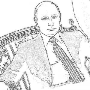 Распечатать бесплатные раскраски с Путиным