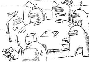 Голосование Амонг Ас раскраска