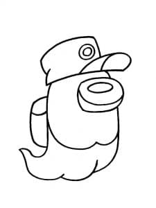 Дух Амонг Ас в шляпе