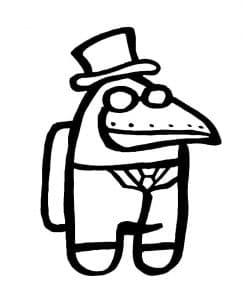 Амонг Ас птица в очках и шляпе