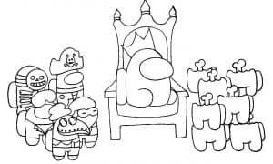 Предатель Among Us на троне
