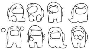 Эмоции персонажей Амонг Ас