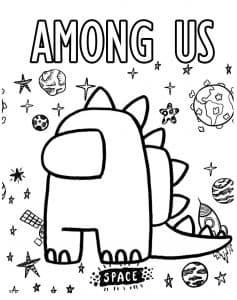 Among Us динозавр